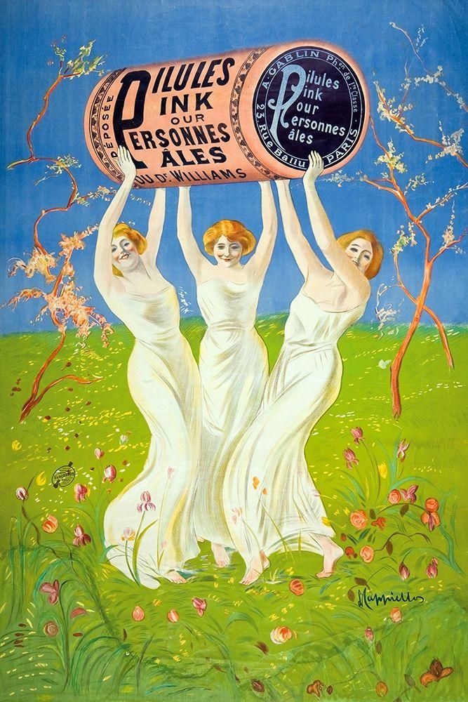 konfigurieren des Kunstdrucks in Wunschgröße Pilules Pink pour personnes pa les, 1910 von Cappiello, Leonetto