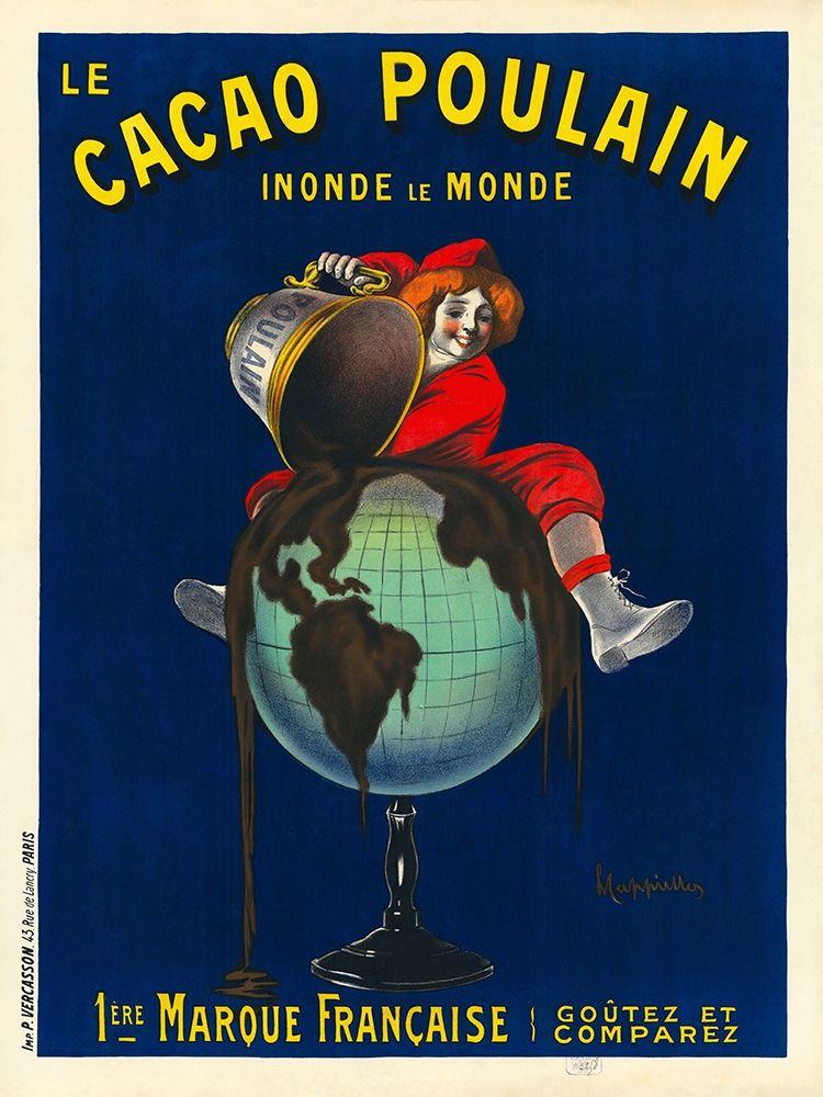 konfigurieren des Kunstdrucks in Wunschgröße Le cacao Poulain inonde le monde, 1911 von Cappiello, Leonetto