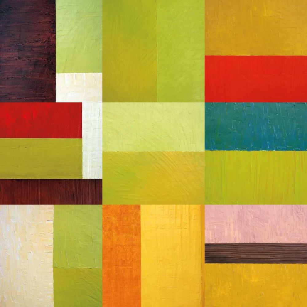 konfigurieren des Kunstdrucks in Wunschgröße Color Study Abstract 1 von Calkins, Michelle