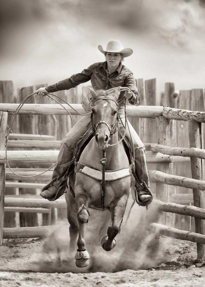 konfigurieren des Kunstdrucks in Wunschgröße Ride 'Em Cowgirl von Dearing, Lisa