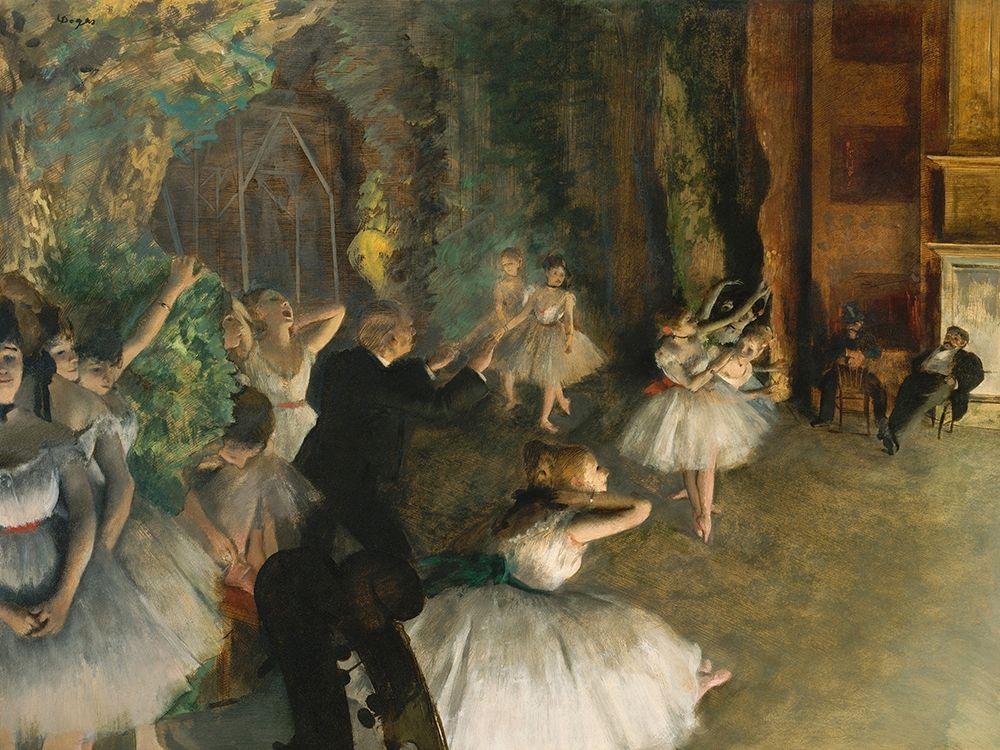konfigurieren des Kunstdrucks in Wunschgröße The Rehearsal of the Ballet Onstage von Degas, Edgar