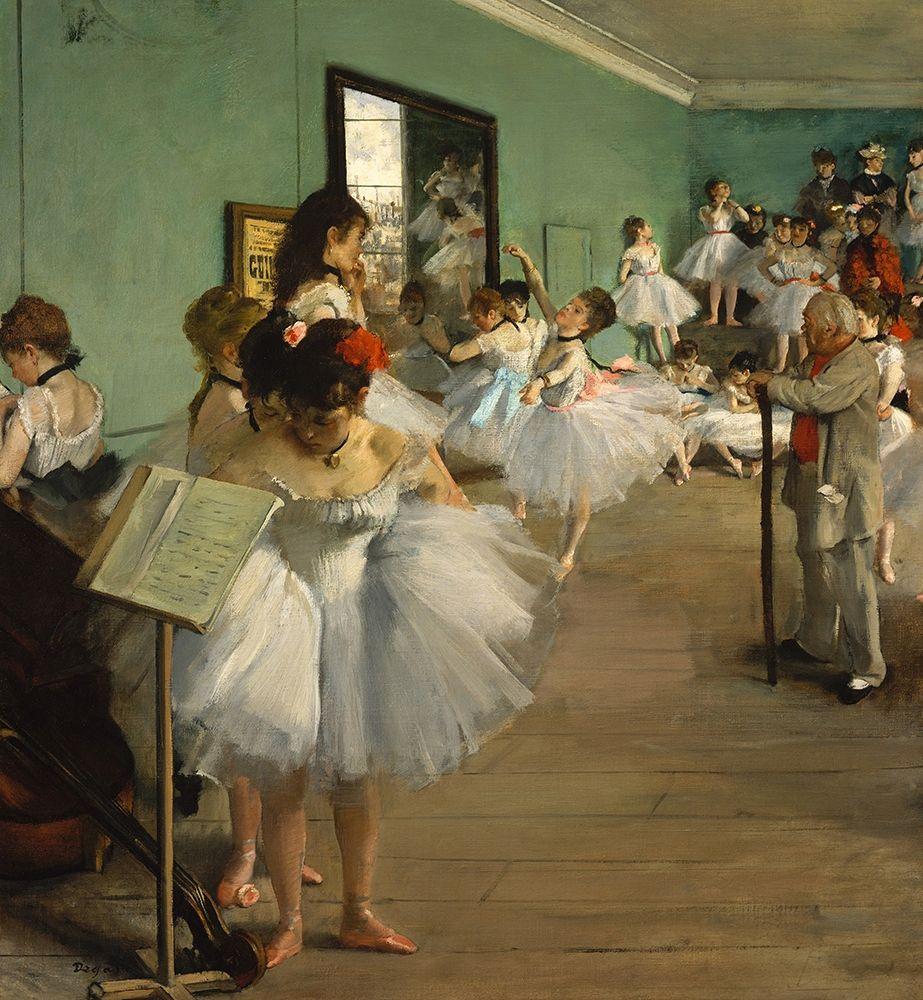 konfigurieren des Kunstdrucks in Wunschgröße The Dance Class von Degas, Edgar