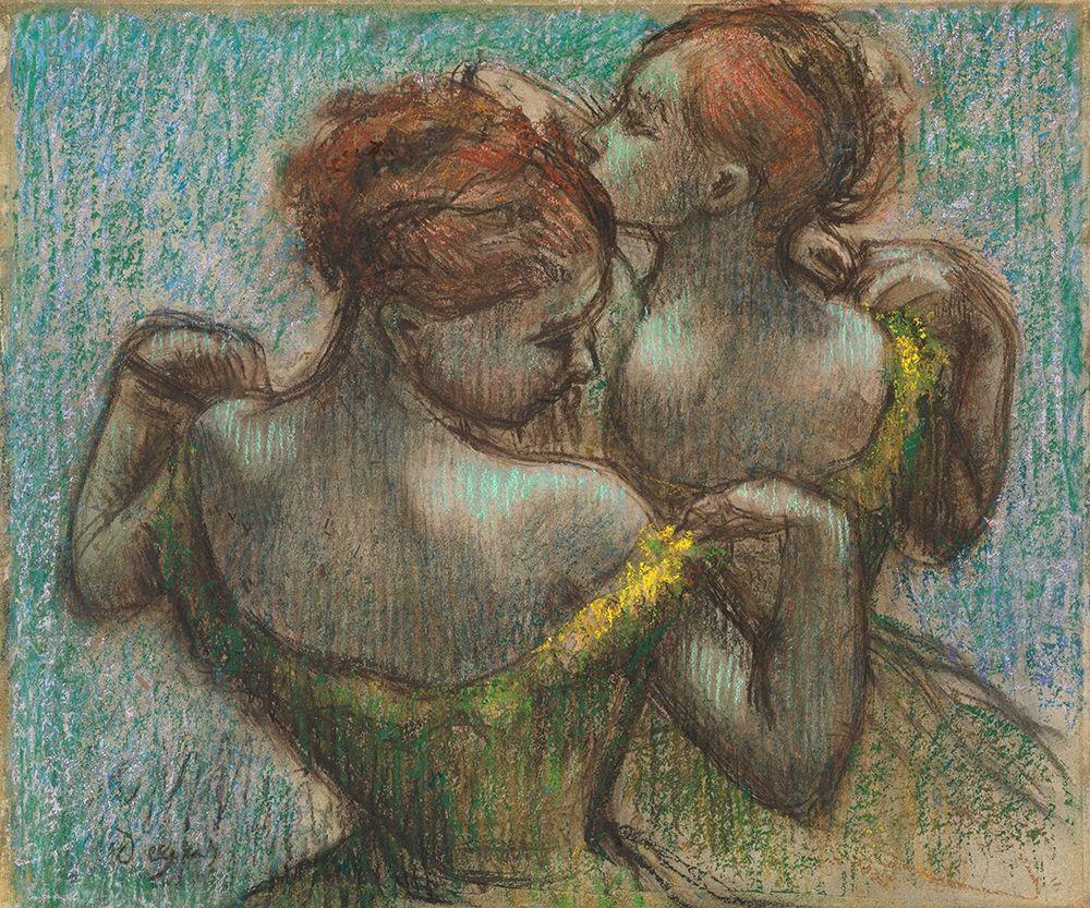 konfigurieren des Kunstdrucks in Wunschgröße Two Dancers, Half-Length von Degas, Edgar