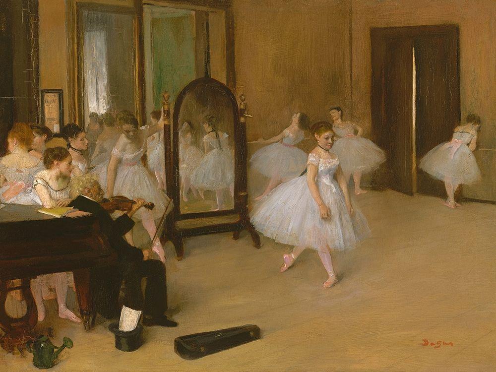 konfigurieren des Kunstdrucks in Wunschgröße The Dancing Class von Degas, Edgar