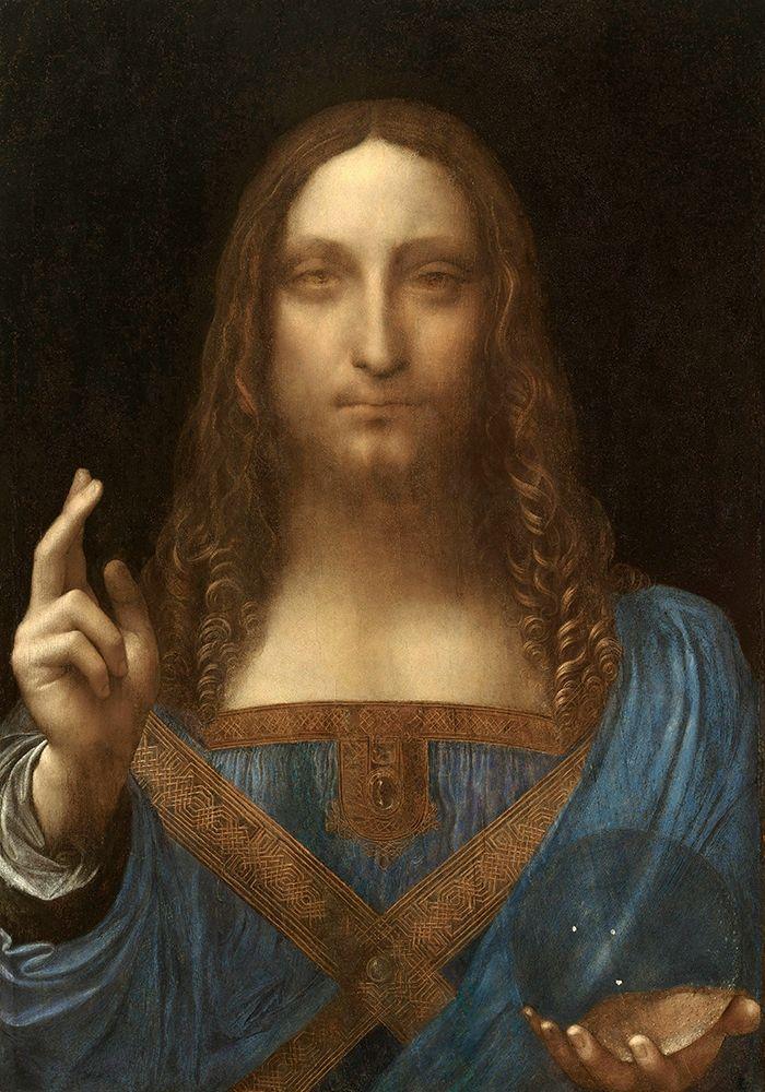 konfigurieren des Kunstdrucks in Wunschgröße Salvator Mundi von Da Vinci, Leonardo