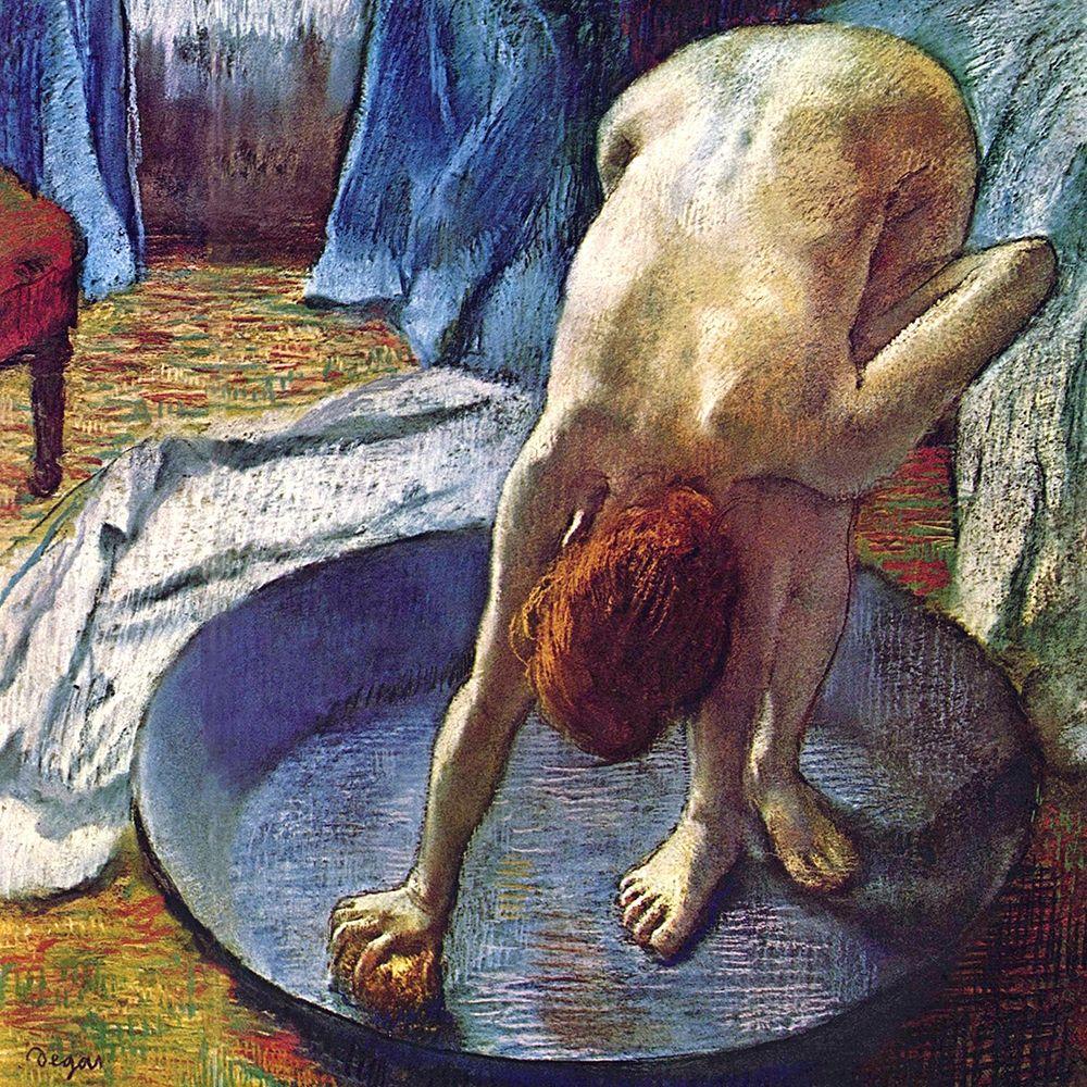 konfigurieren des Kunstdrucks in Wunschgröße Frau in der Bedewanne von Degas, Edgar