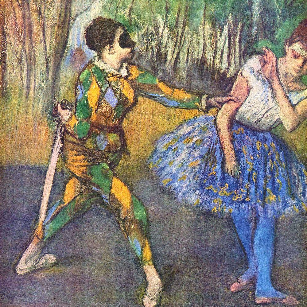 konfigurieren des Kunstdrucks in Wunschgröße Harlequin and Colombine von Degas, Edgar