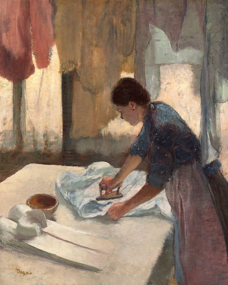 konfigurieren des Kunstdrucks in Wunschgröße Woman Ironing, c. 1876-1877 von Degas, Edgar