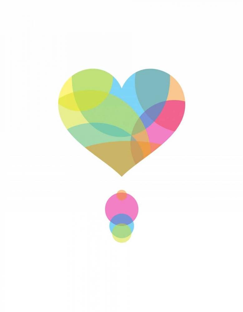 konfigurieren des Kunstdrucks in Wunschgröße Colors of a Heart von Dalyan, Volkan