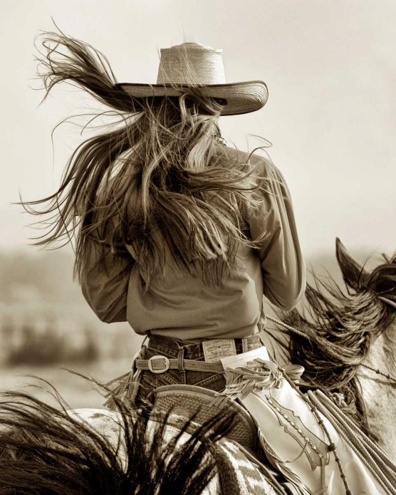 konfigurieren des Kunstdrucks in Wunschgröße Cowgirl von Dearing, Lisa