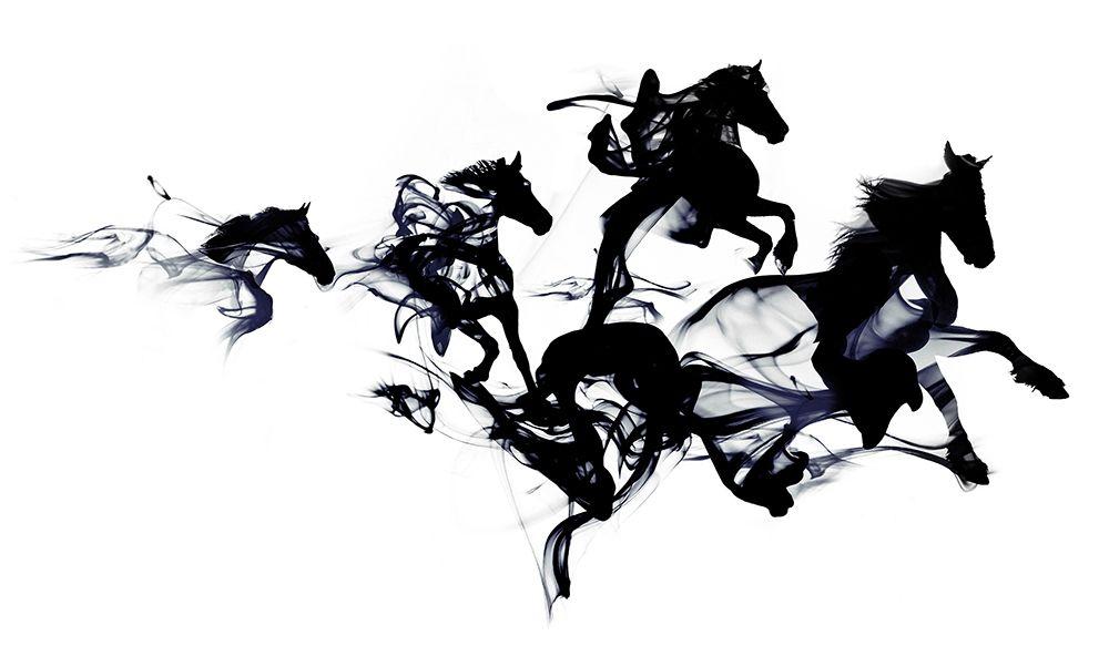 konfigurieren des Kunstdrucks in Wunschgröße Black Horses von Farkas, Robert