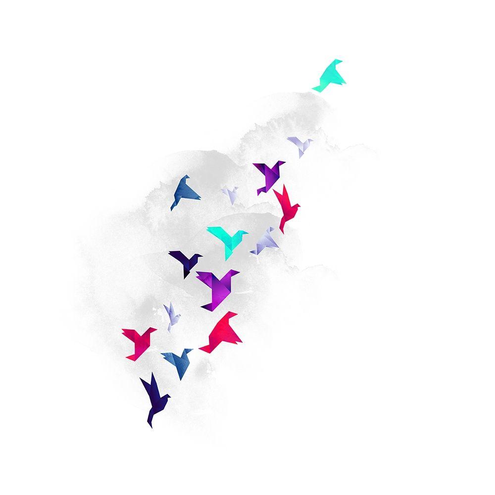 konfigurieren des Kunstdrucks in Wunschgröße Paper Birds von Farkas, Robert