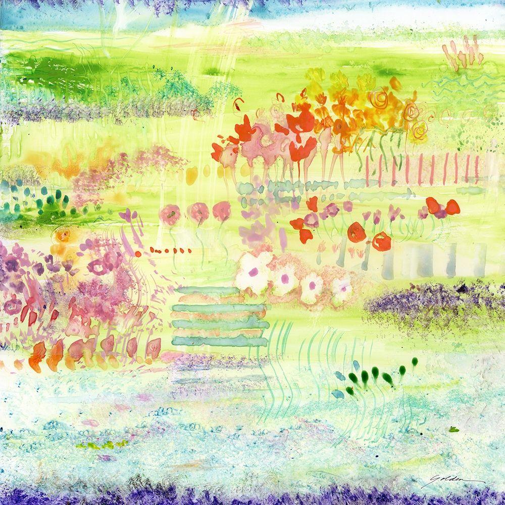konfigurieren des Kunstdrucks in Wunschgröße Garden by the Sea von Golden, Sheila