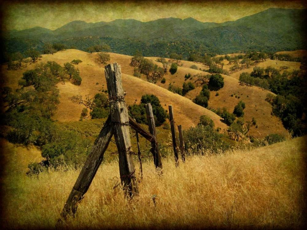 konfigurieren des Kunstdrucks in Wunschgröße Weathered Ranch Fence von Guion, William