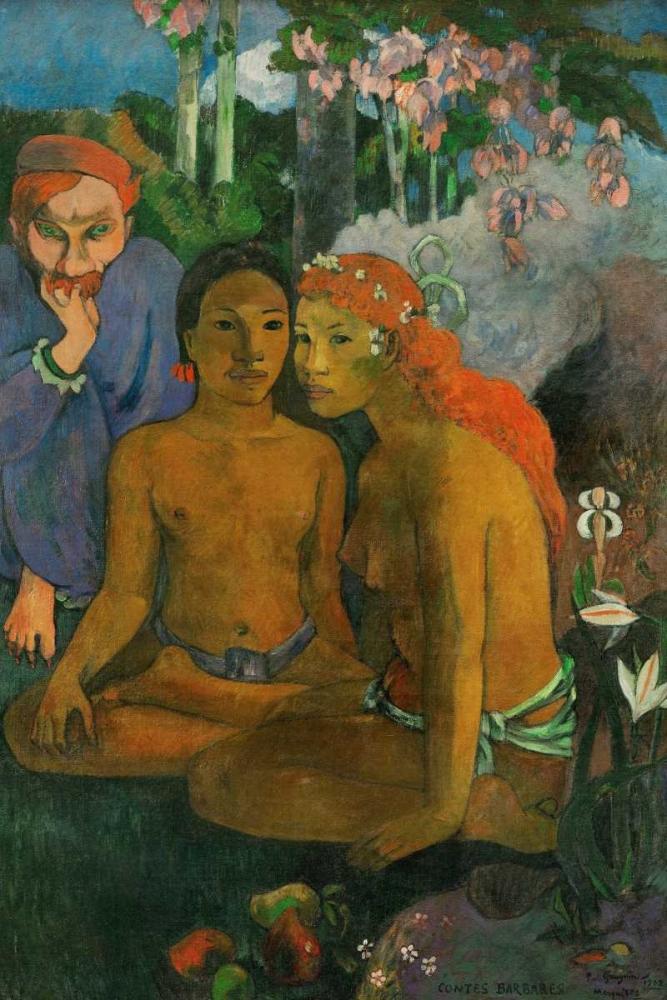 konfigurieren des Kunstdrucks in Wunschgröße Contes barbares von Gauguin, Paul