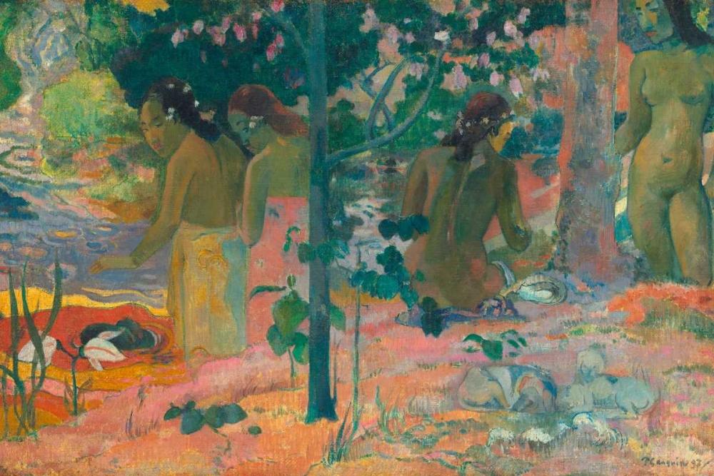 konfigurieren des Kunstdrucks in Wunschgröße The Bathers von Gauguin, Paul