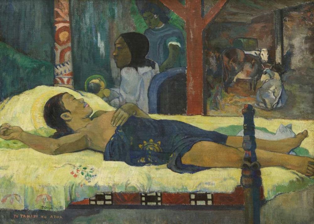 konfigurieren des Kunstdrucks in Wunschgröße The Birth von Gauguin, Paul