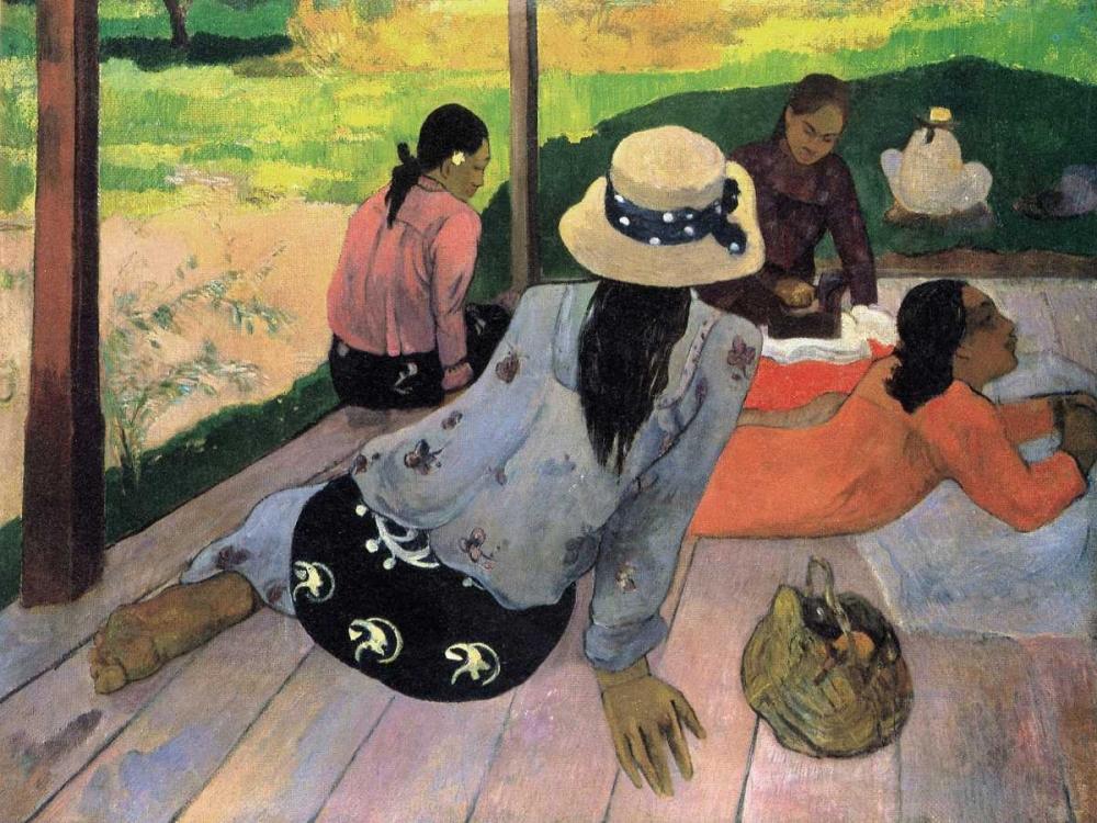 konfigurieren des Kunstdrucks in Wunschgröße The Siesta von Gauguin, Paul