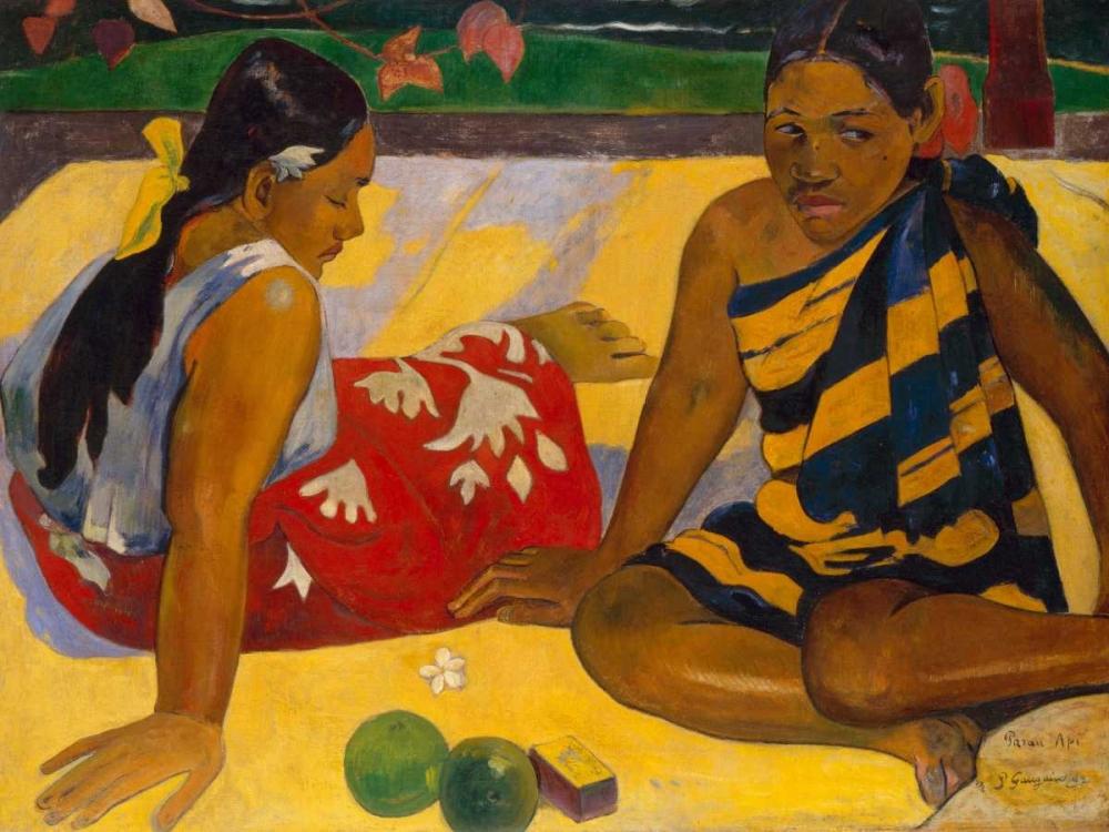 konfigurieren des Kunstdrucks in Wunschgröße What News von Gauguin, Paul