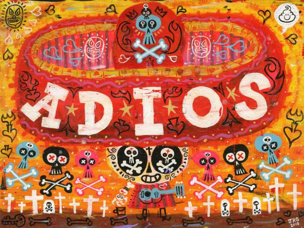 konfigurieren des Kunstdrucks in Wunschgröße Adios Amigos von Gutierrez, Jorge R.