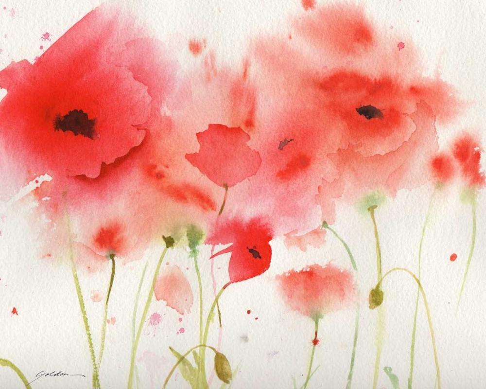 konfigurieren des Kunstdrucks in Wunschgröße Red Poppies von Golden, Sheila