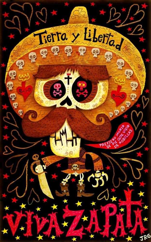 konfigurieren des Kunstdrucks in Wunschgröße Viva Zapata von Gutierrez, Jorge R.