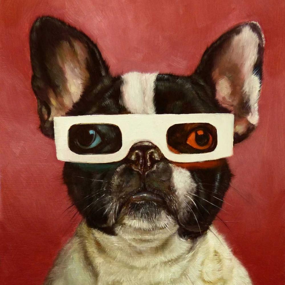 konfigurieren des Kunstdrucks in Wunschgröße 3D Dog von Heffernan, Lucia
