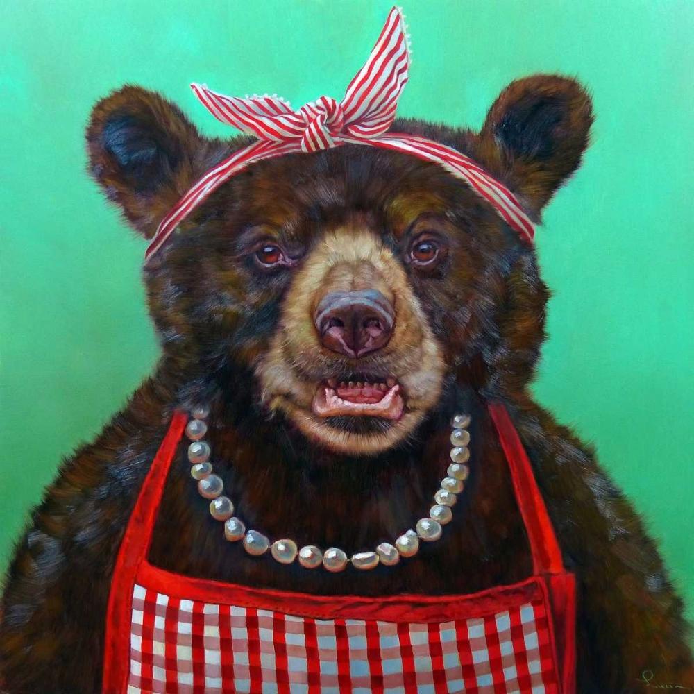 konfigurieren des Kunstdrucks in Wunschgröße Mama Bear von Heffernan, Lucia