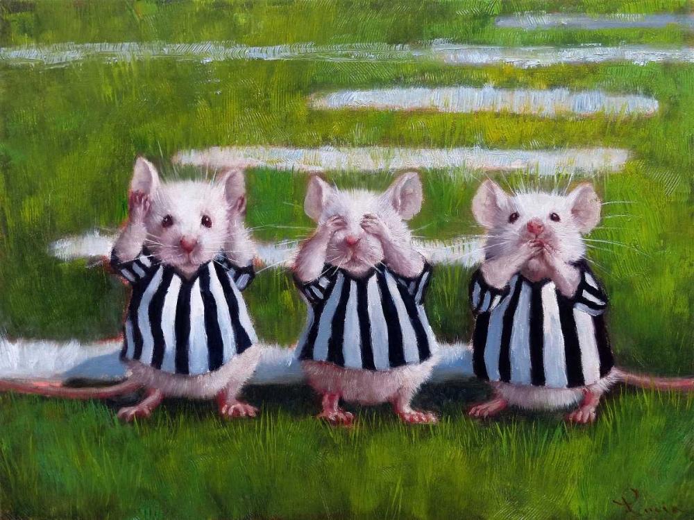 konfigurieren des Kunstdrucks in Wunschgröße Three Blind Mice von Heffernan, Lucia