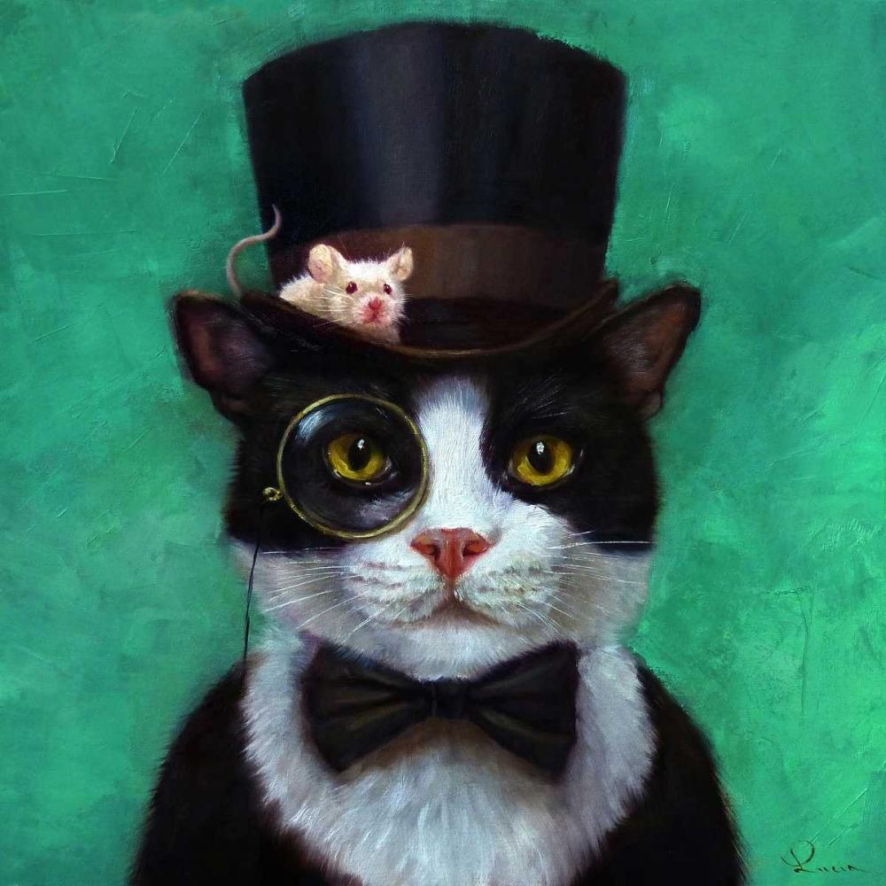 konfigurieren des Kunstdrucks in Wunschgröße Tuxedo Cat von Heffernan, Lucia
