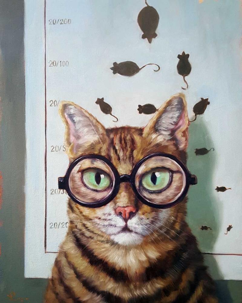 konfigurieren des Kunstdrucks in Wunschgröße Feline Cat Exam von Heffernan, Lucia