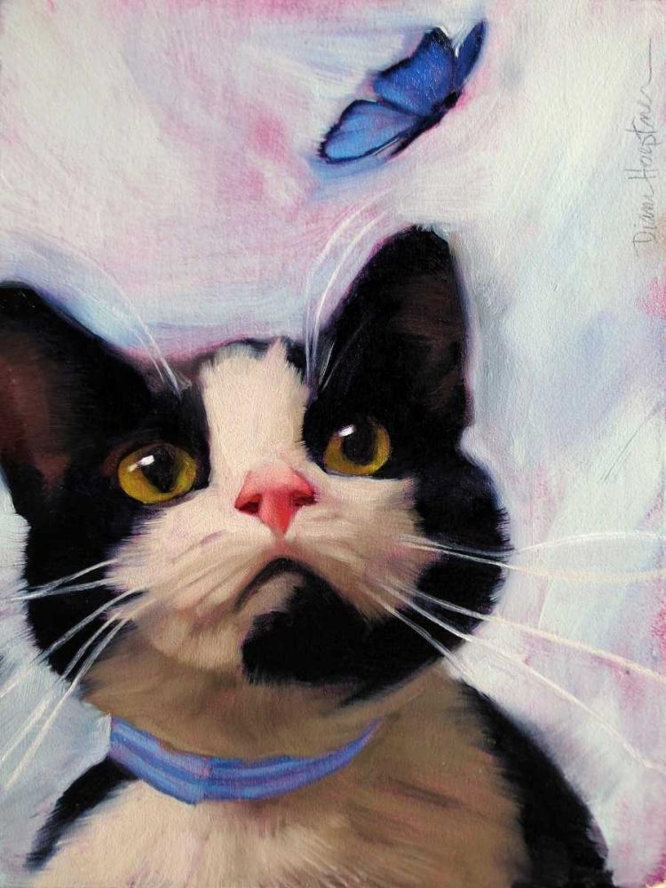konfigurieren des Kunstdrucks in Wunschgröße Cat and Butterfly von Hoeptner, Diane