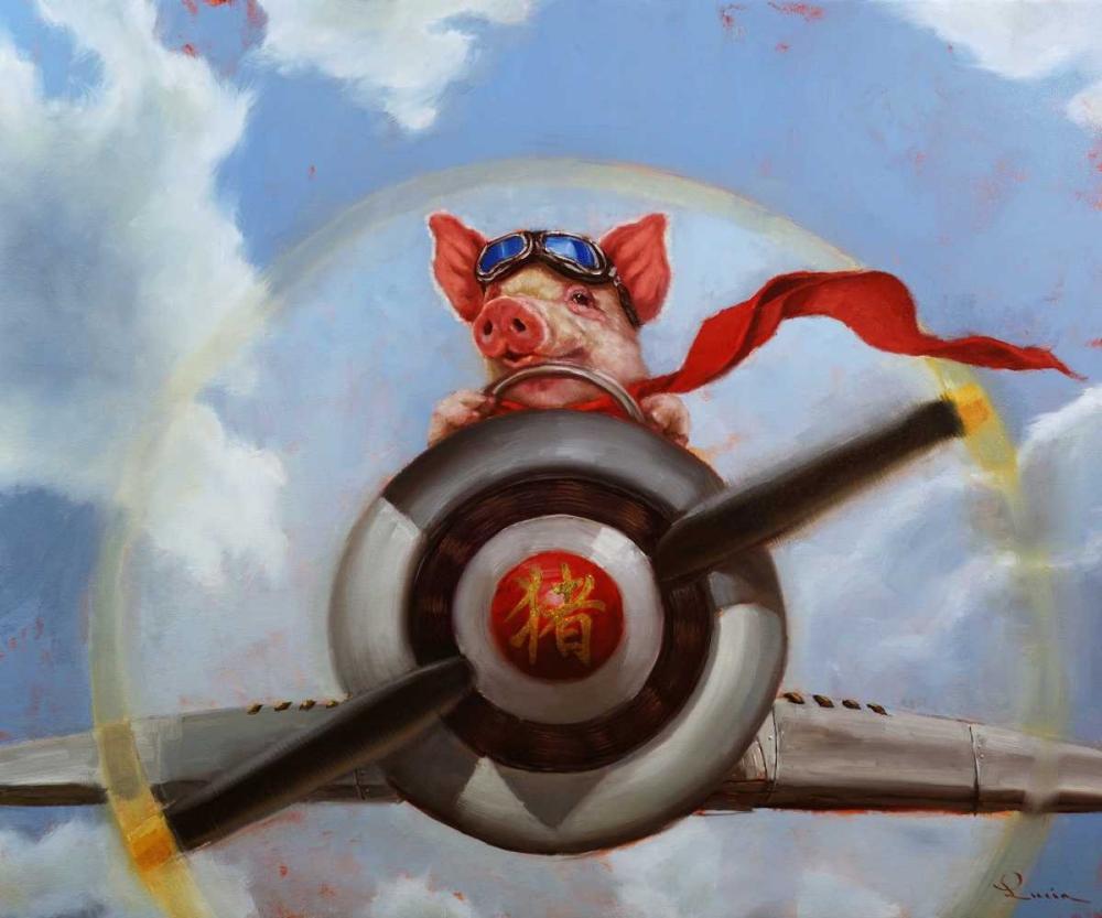 konfigurieren des Kunstdrucks in Wunschgröße When Pigs Fly von Heffernan, Lucia