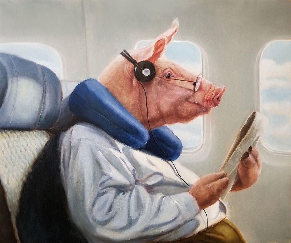 konfigurieren des Kunstdrucks in Wunschgröße When Pigs Fly No. 2 von Heffernan, Lucia