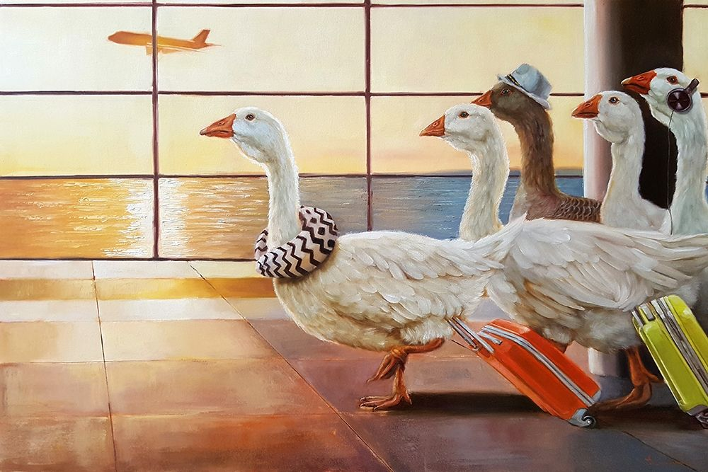 konfigurieren des Kunstdrucks in Wunschgröße First Class Migration von Heffernan, Lucia