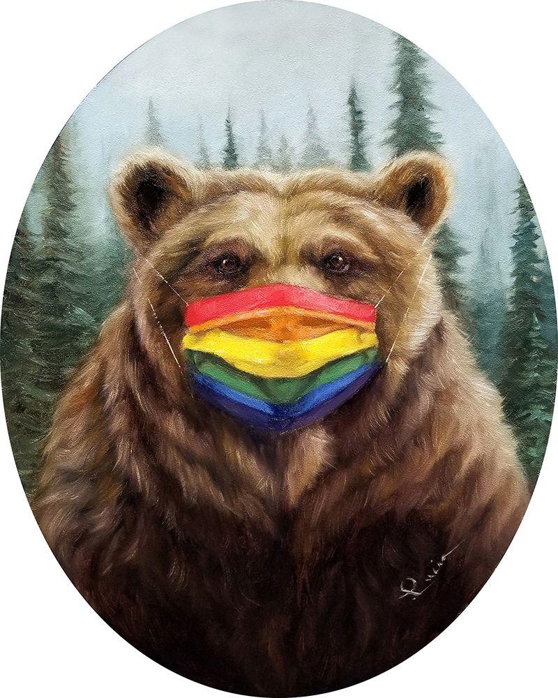 konfigurieren des Kunstdrucks in Wunschgröße Bear Pride von Heffernan, Lucia