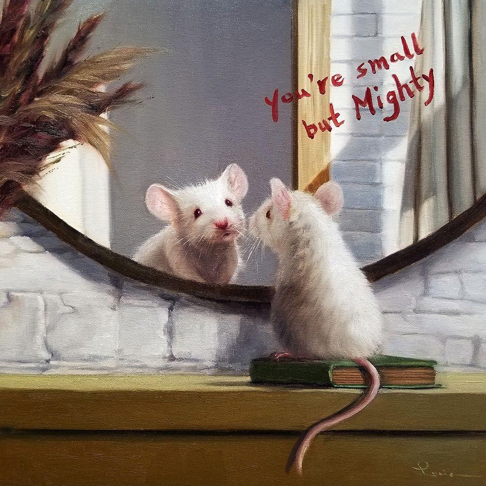 konfigurieren des Kunstdrucks in Wunschgröße Mighty Mouse von Heffernan, Lucia