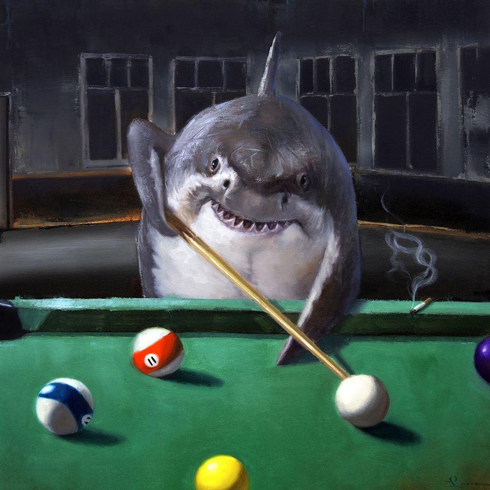 konfigurieren des Kunstdrucks in Wunschgröße Pool Shark von Heffernan, Lucia