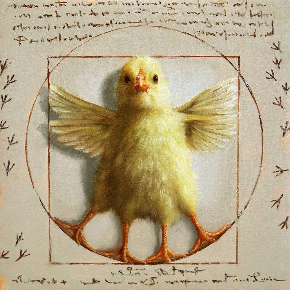 konfigurieren des Kunstdrucks in Wunschgröße Vitruvian Chick von Heffernan, Lucia