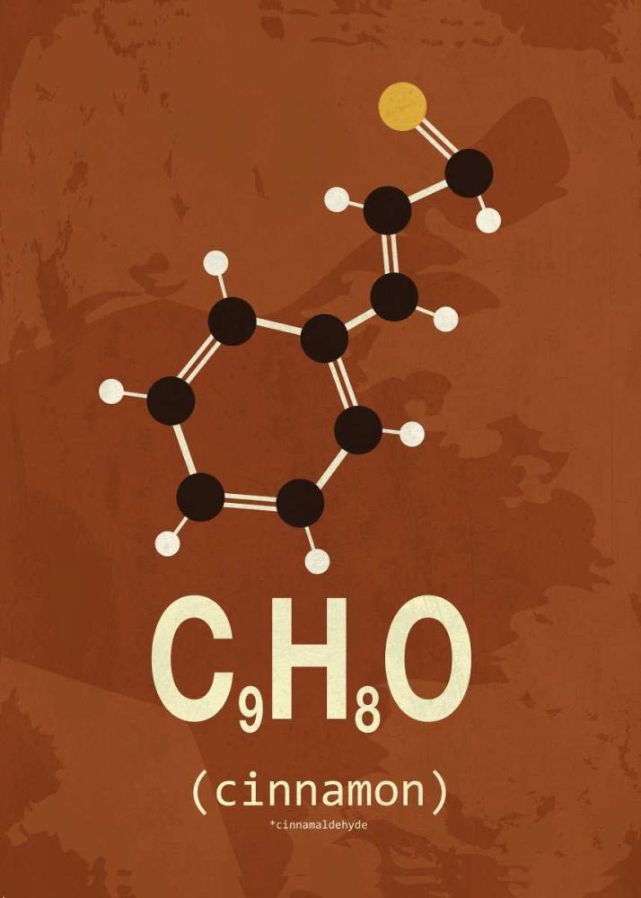 konfigurieren des Kunstdrucks in Wunschgröße Molecule Cinnamon von TypeLike