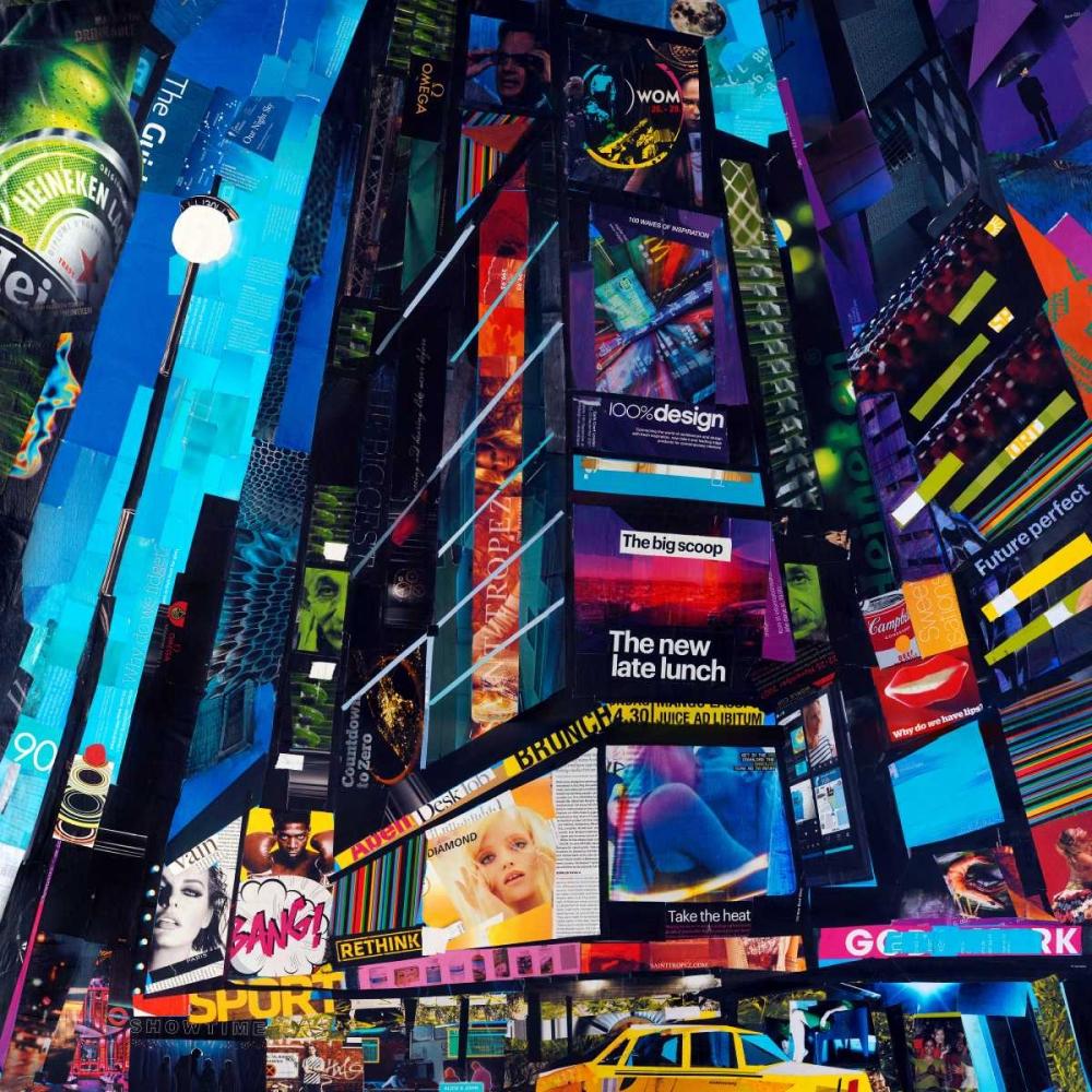 konfigurieren des Kunstdrucks in Wunschgröße City Night von Grey, James