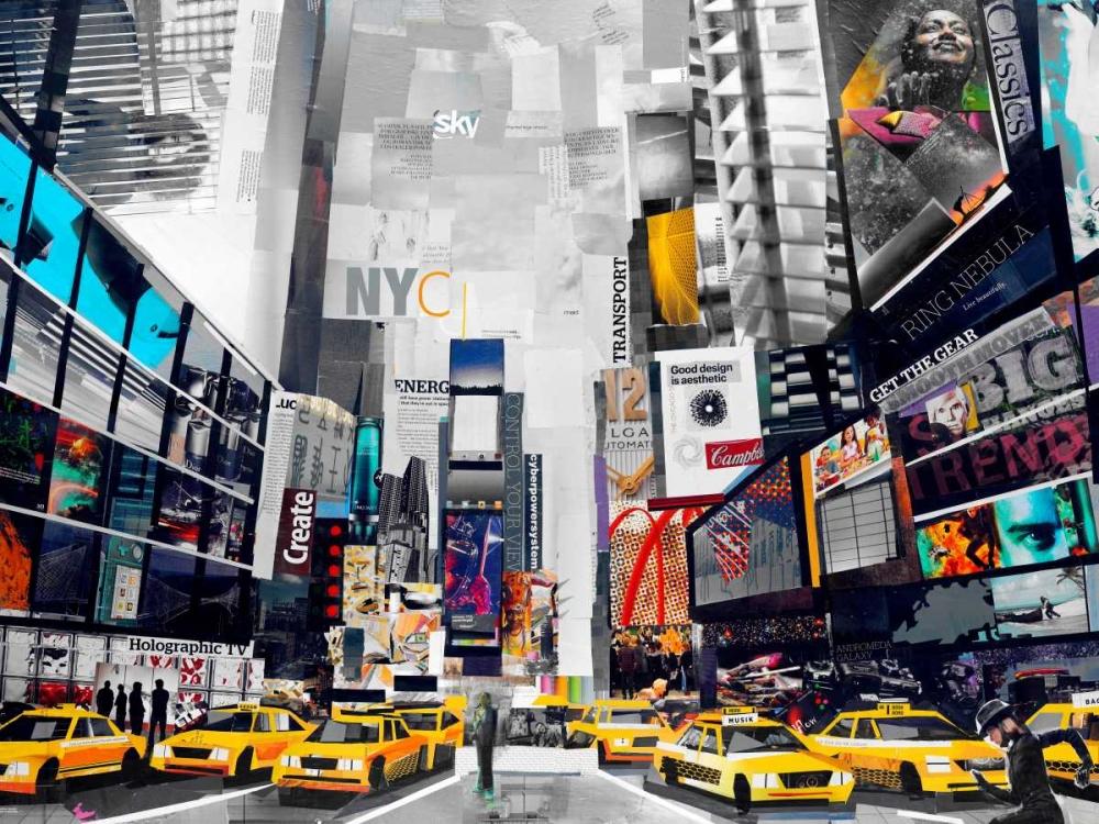 konfigurieren des Kunstdrucks in Wunschgröße Times Square von Grey, James