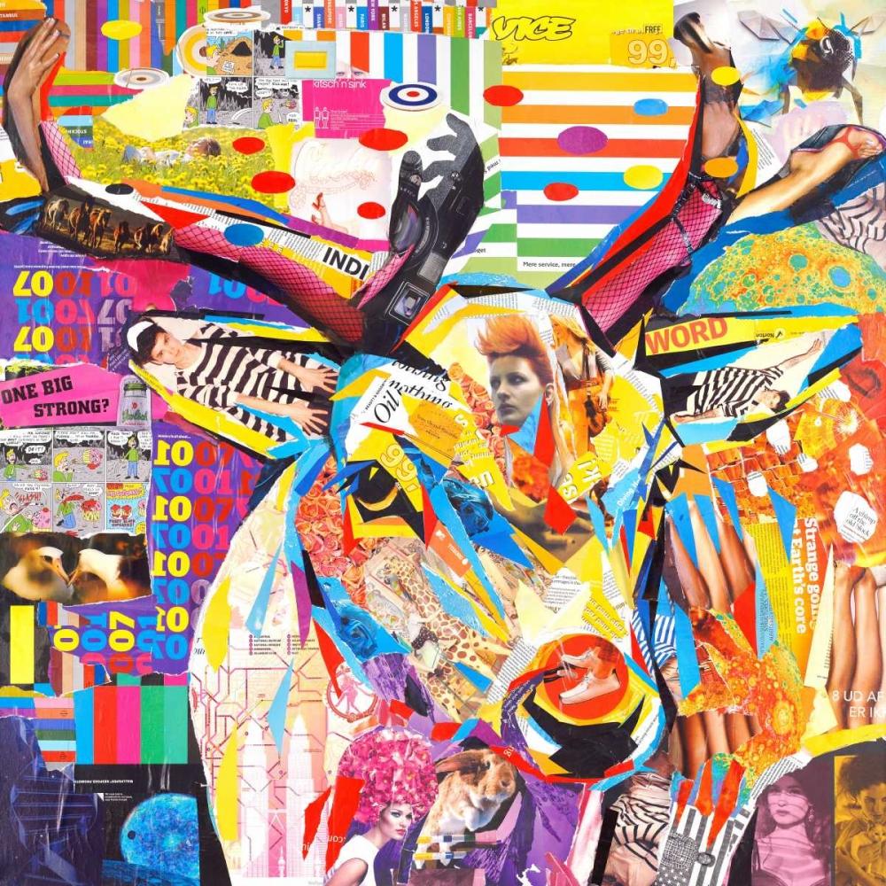 konfigurieren des Kunstdrucks in Wunschgröße Funky Deer von Grey, James