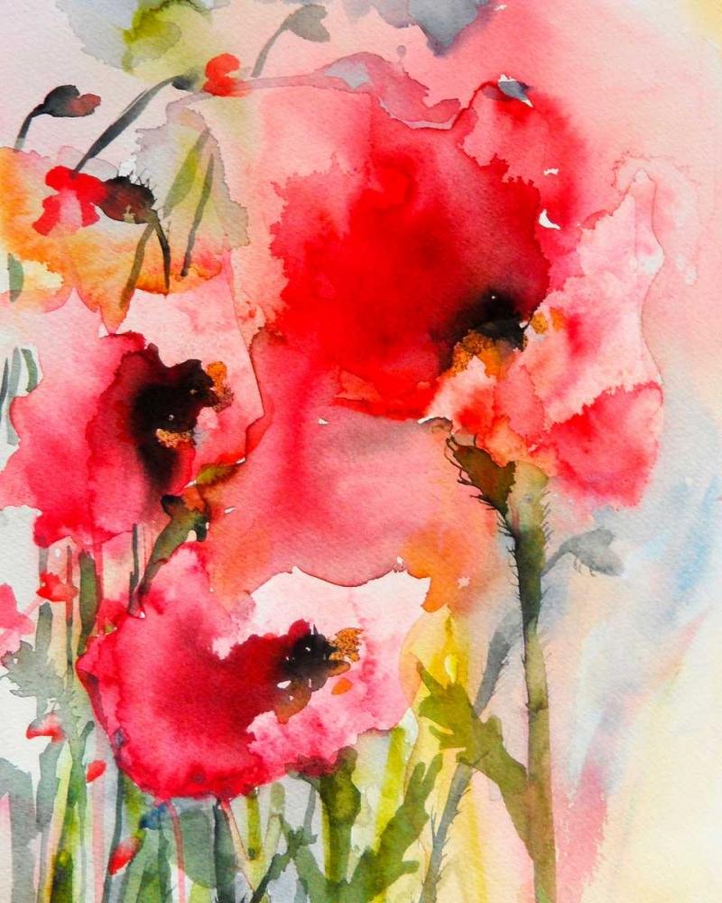 konfigurieren des Kunstdrucks in Wunschgröße Summer Poppies von Johannesson, Karin