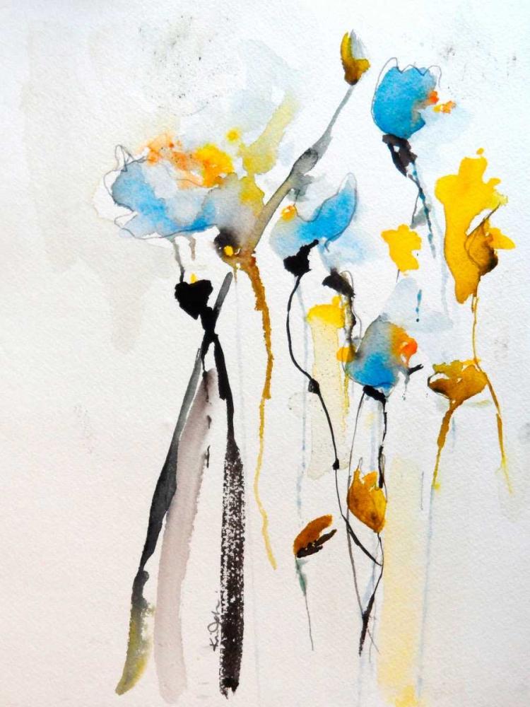 konfigurieren des Kunstdrucks in Wunschgröße Blue Flowers II von Johannesson, Karin