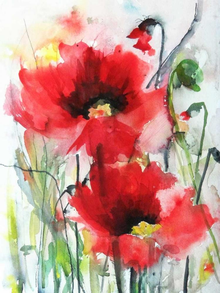 konfigurieren des Kunstdrucks in Wunschgröße Red Poppies von Johannesson, Karin