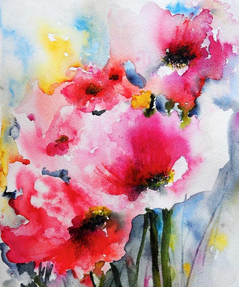 konfigurieren des Kunstdrucks in Wunschgröße Summer Poppies II von Johannesson, Karin
