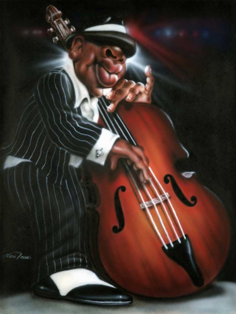 konfigurieren des Kunstdrucks in Wunschgröße Jazzman D von Jones, Leonard
