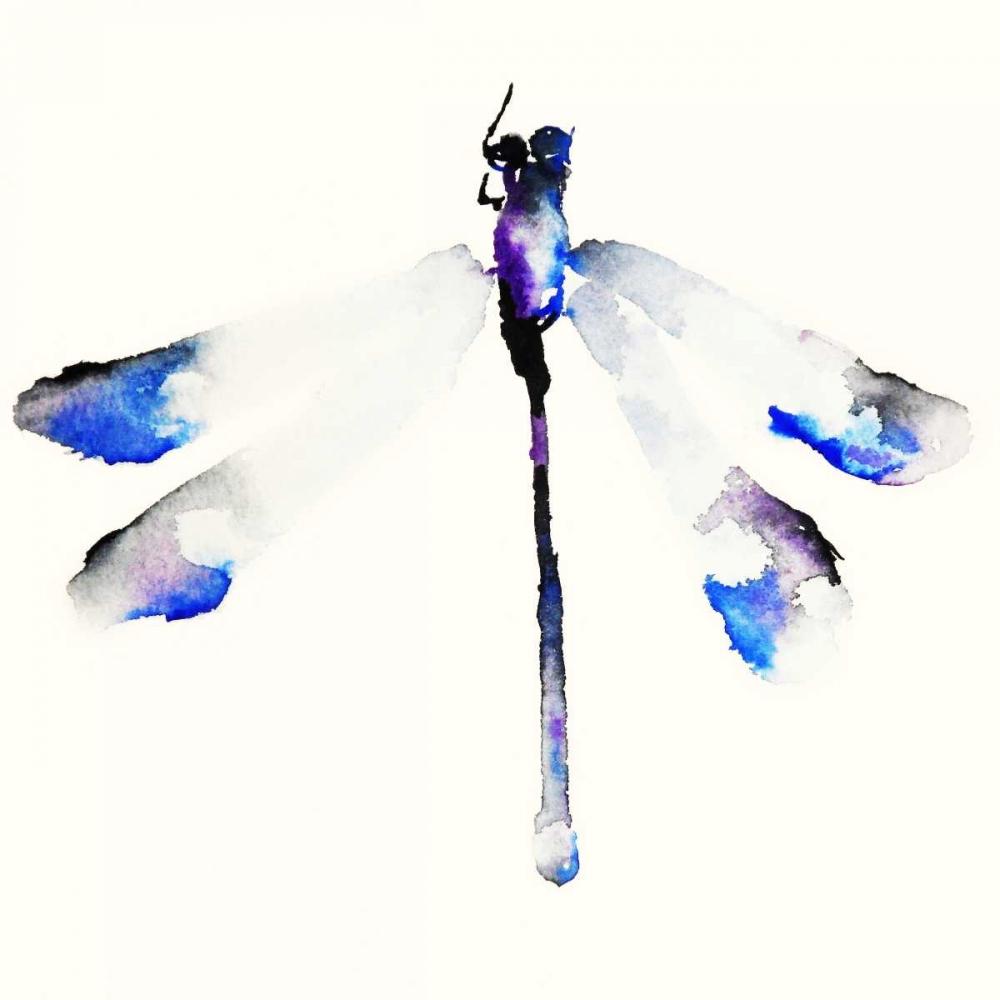 konfigurieren des Kunstdrucks in Wunschgröße Blue and Violet Dragonfly von Johannesson, Karin