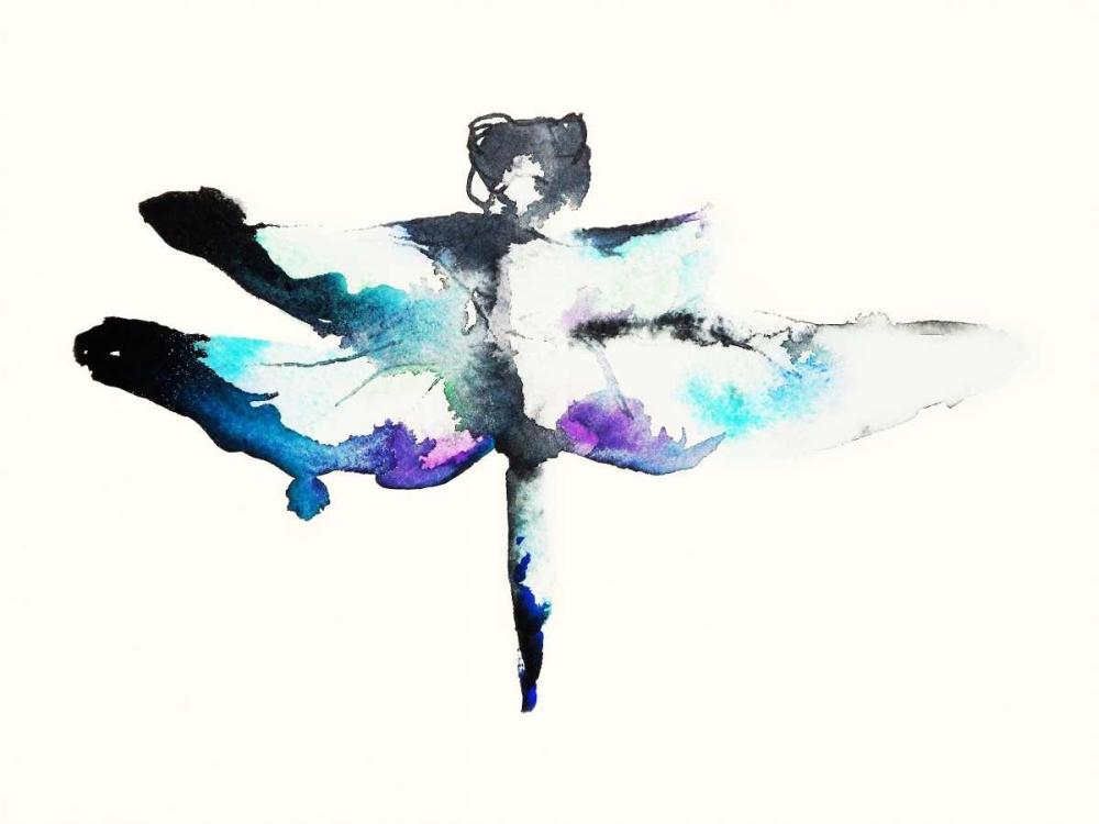 konfigurieren des Kunstdrucks in Wunschgröße Turquoise and Violet Dragonfly von Johannesson, Karin